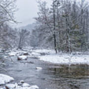 January Snow On The River Poster