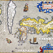 Japan: Map, 1606 Poster