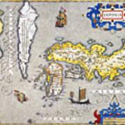 Japan: Map, 1606 Poster