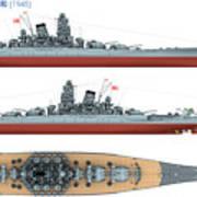 Japanese Battleship Yamato Poster