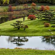 Japanese Garden Autumn Poster
