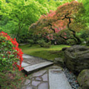 Japanese Garden Strolling Stone Path Poster