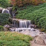 Japanese Gardens Waterfall Poster