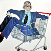 Jarvis Cocker 'off Yer Trolley' Poster