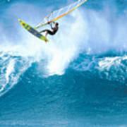 Jason Flies Over A Wave Poster