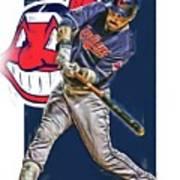 Jason Kipnis Cleveland Indians Oil Art Poster