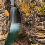 Jasper Maligne Canyon Waterfall Poster