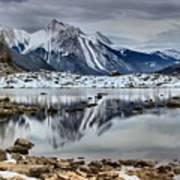 Jasper Medicine Lake Reflections Poster