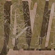 Jazz 34 Duke Ellington - Brown Poster
