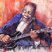Jazz B B King 06 A Poster by Yuriy  Shevchuk