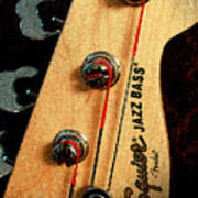 Jazz Bass Headstock Poster