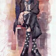 Jazz Bluesman John Lee Hooker Poster by Yuriy  Shevchuk