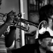 Jazz Men In Black And White Poster