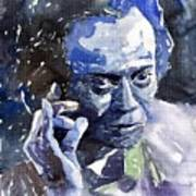 Jazz Miles Davis 11 Blue Poster