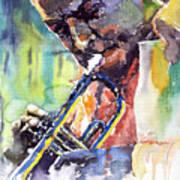 Jazz Miles Davis 9 Blue Poster