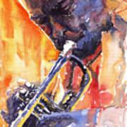 Jazz Miles Davis 9 Red Poster