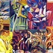 Jazz Squares Poster