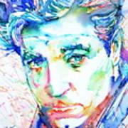 Jean Gabin - Colored Pens Portrait Poster