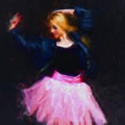 Jean Jacket Ballerina Poster