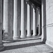 Jefferson Memorial Columns And Shadows Poster