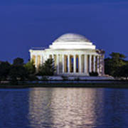 Jefferson Memorial Dusk Poster