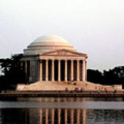 Jefferson Monument After Sunset Poster
