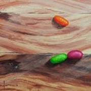 Jelly Beans On Wood Poster