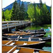 Jenny Lake Boats Poster