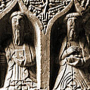 Jerpoint Abbey Irish Tomb Weepers Saints County Kilkenny Ireland Sepia Poster