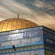 Jerusalem - Dome Of The Rock Sky Poster