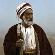 Jerusalem - Sheik Of Palestinian Village Poster