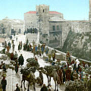 Jerusalem: Bazaar, C1900 Poster