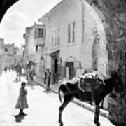 Jerusalem Street In 1914 Poster
