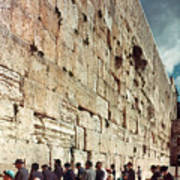 Jerusalem  Wailing Wall - To License For Professional Use Visit Granger.com Poster