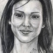 Jessica Alba Portrait Poster