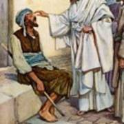 Jesus And The Blind Man Poster