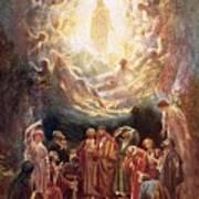 Jesus Ascending Into Heaven Poster