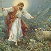 Jesus Christ The Tender Shepherd Poster