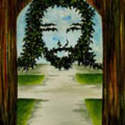 Jesus Face In Vines Poster