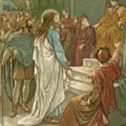 Jesus In Front Of Pilate Poster