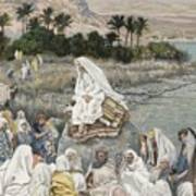Jesus Preaching By The Seashore Poster by Tissot