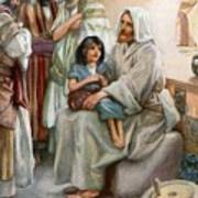 Jesus Teaching The People Poster