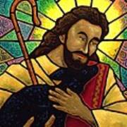 Jesus The Good Shepherd Poster