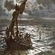Jesus Walking Upon The Sea Poster