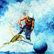 Jet Blue Poster by Hanne Lore Koehler
