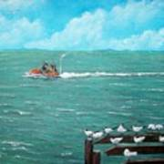 Jet Ski Seascape Poster