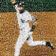 Jeter Walk-off Mosaic Poster by Paul Van Scott