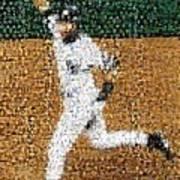 Jeter Walk-off Mosaic Poster by Paul Van Scott