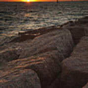 Jetties At Port Aransas Texas Gulf Coast Poster