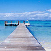 Jetty On The Beach, Mauritius Poster